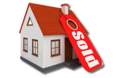 house with sold label